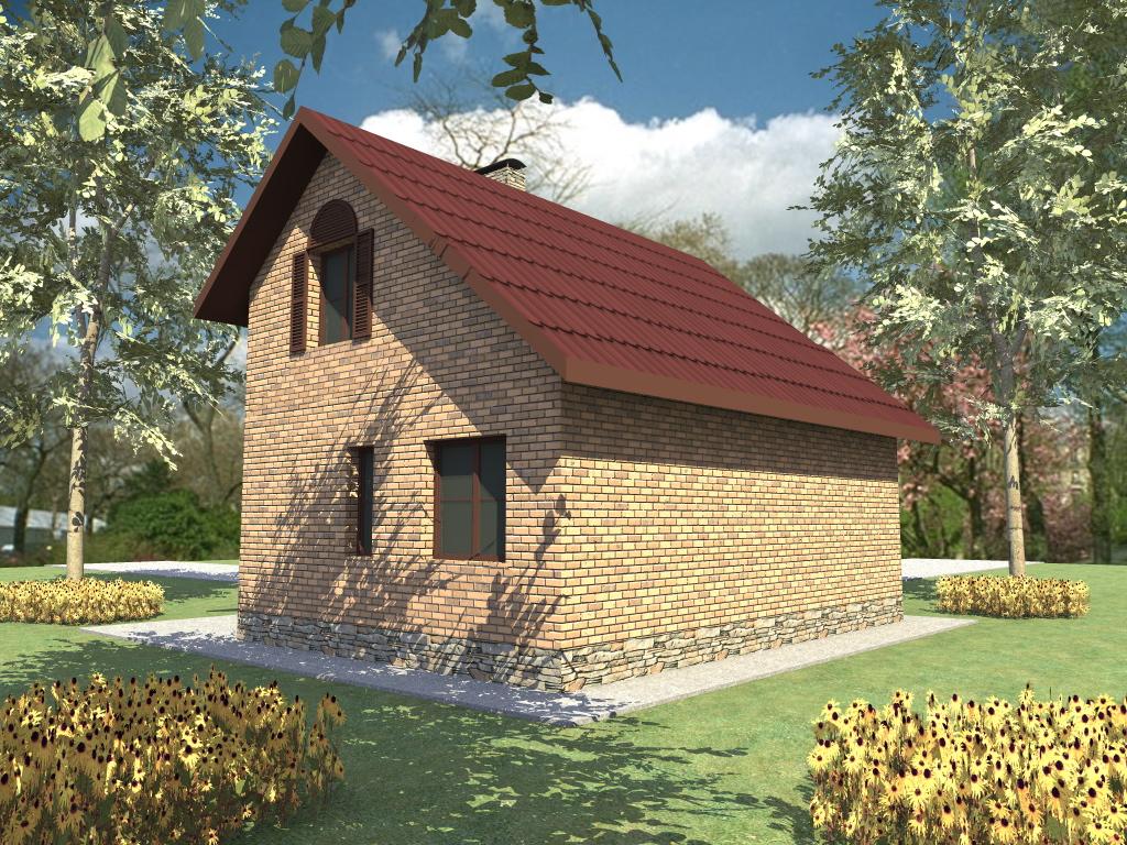 Аббат B-276. Авторский проект коттеджа с мансардным этажом, террасой и 2 спальнями