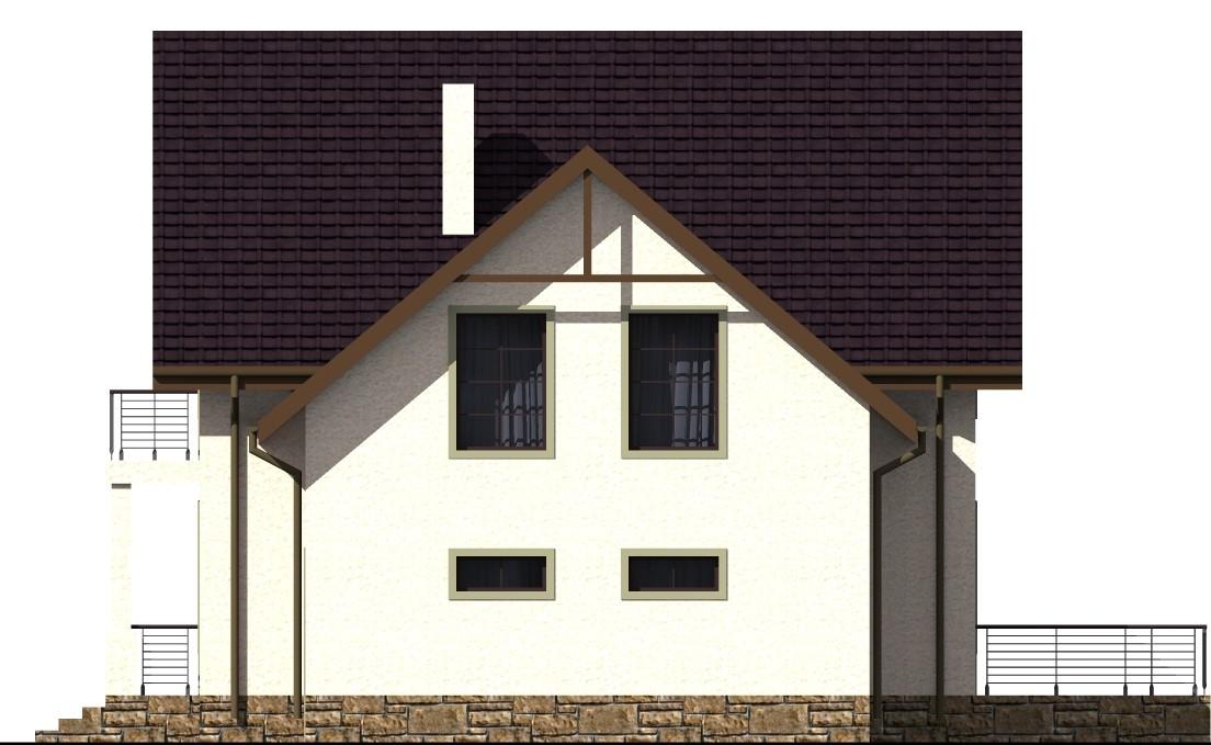 Альбатрос D-021 с видеообзором. Проект мансардного коттеджа на 6 спален, с пристроенным гаражом и террасой