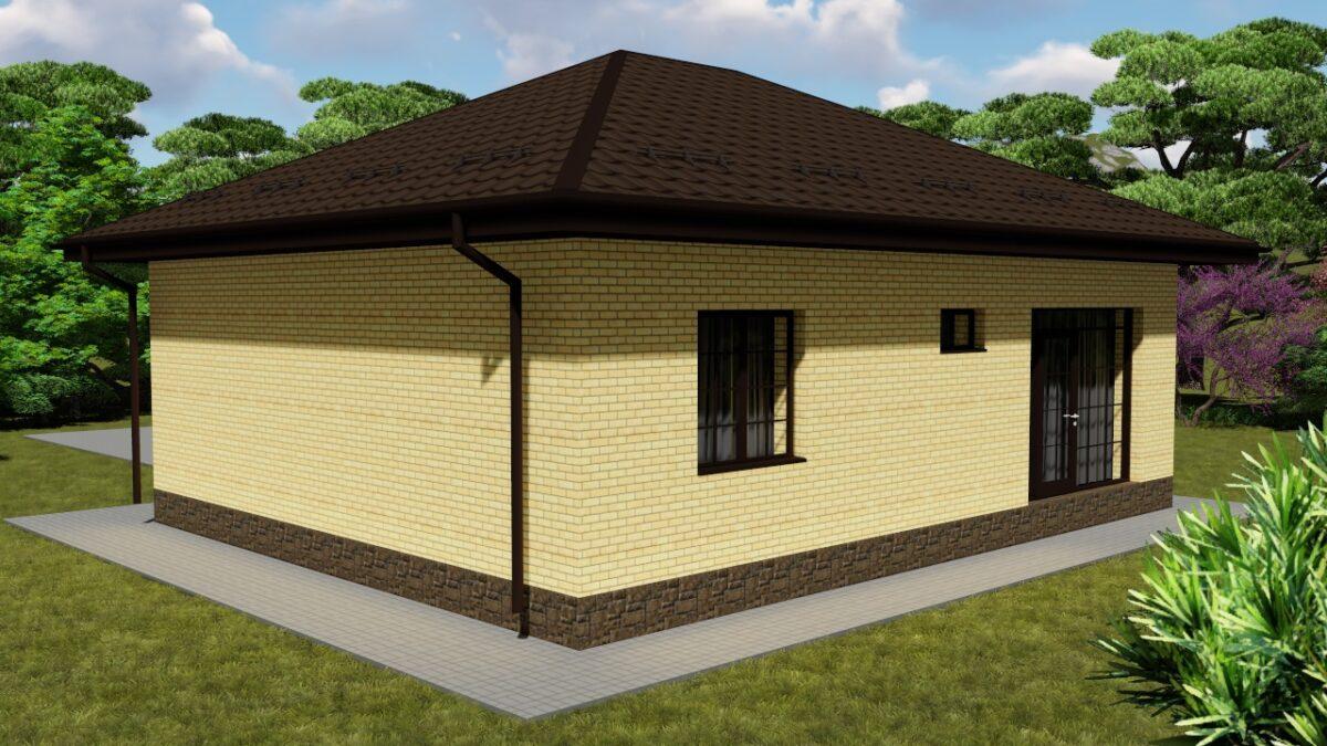 Амра A-008. Проект небольшого одноэтажного дома с двумя спальнями