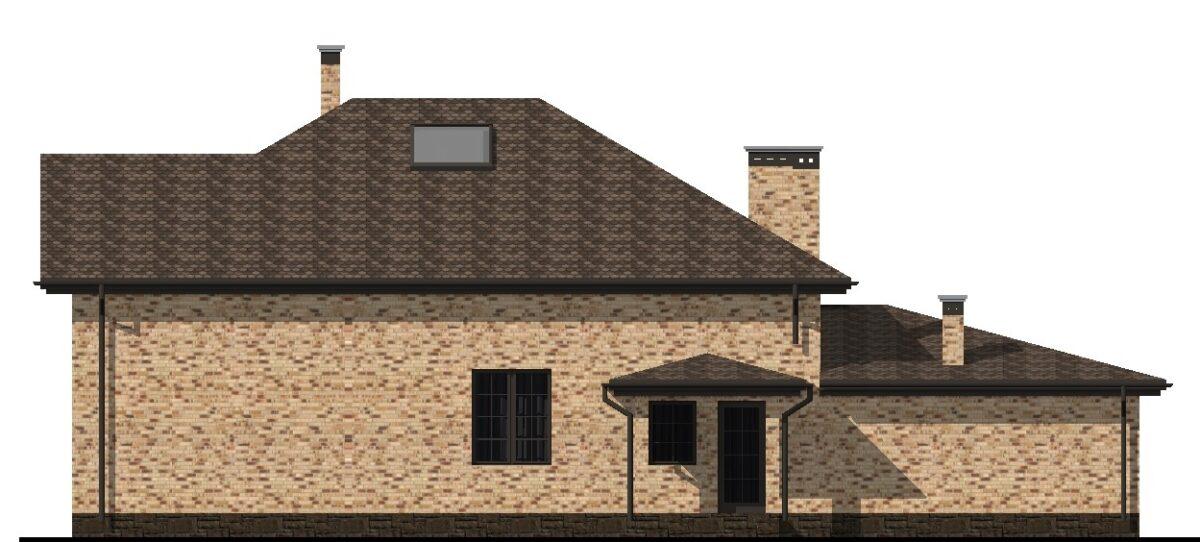 Анзурат D-126. Проект большого мансардного коттеджа с баней, террасой, гаражом на 3 спальни