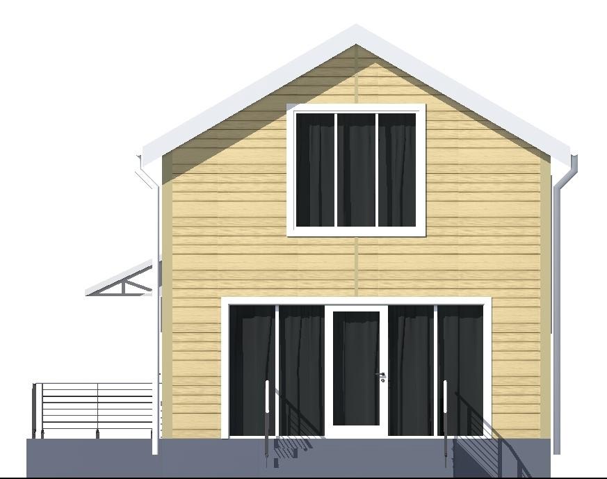 Арта A-092. Проект простого мансардного дома на 2 спальни, под каркасную технологию