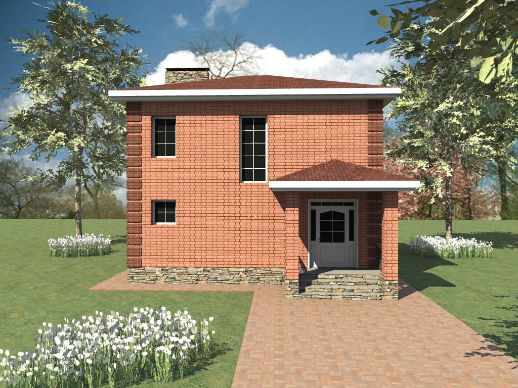 Аспер B-281. Проект 2-этажного коттеджа с 3 спальнями и большой кухней