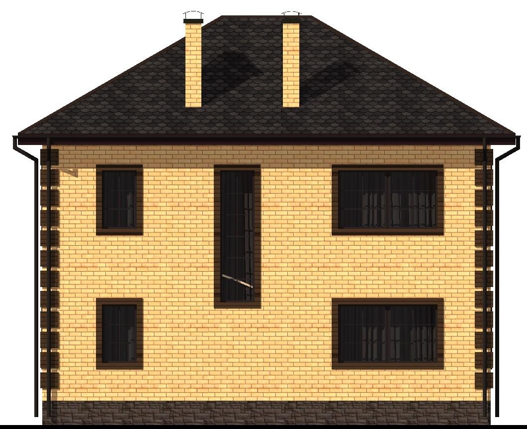 Авантаж C-023. Проект двухэтажного дома на 4 спальни, с цокольным этажом