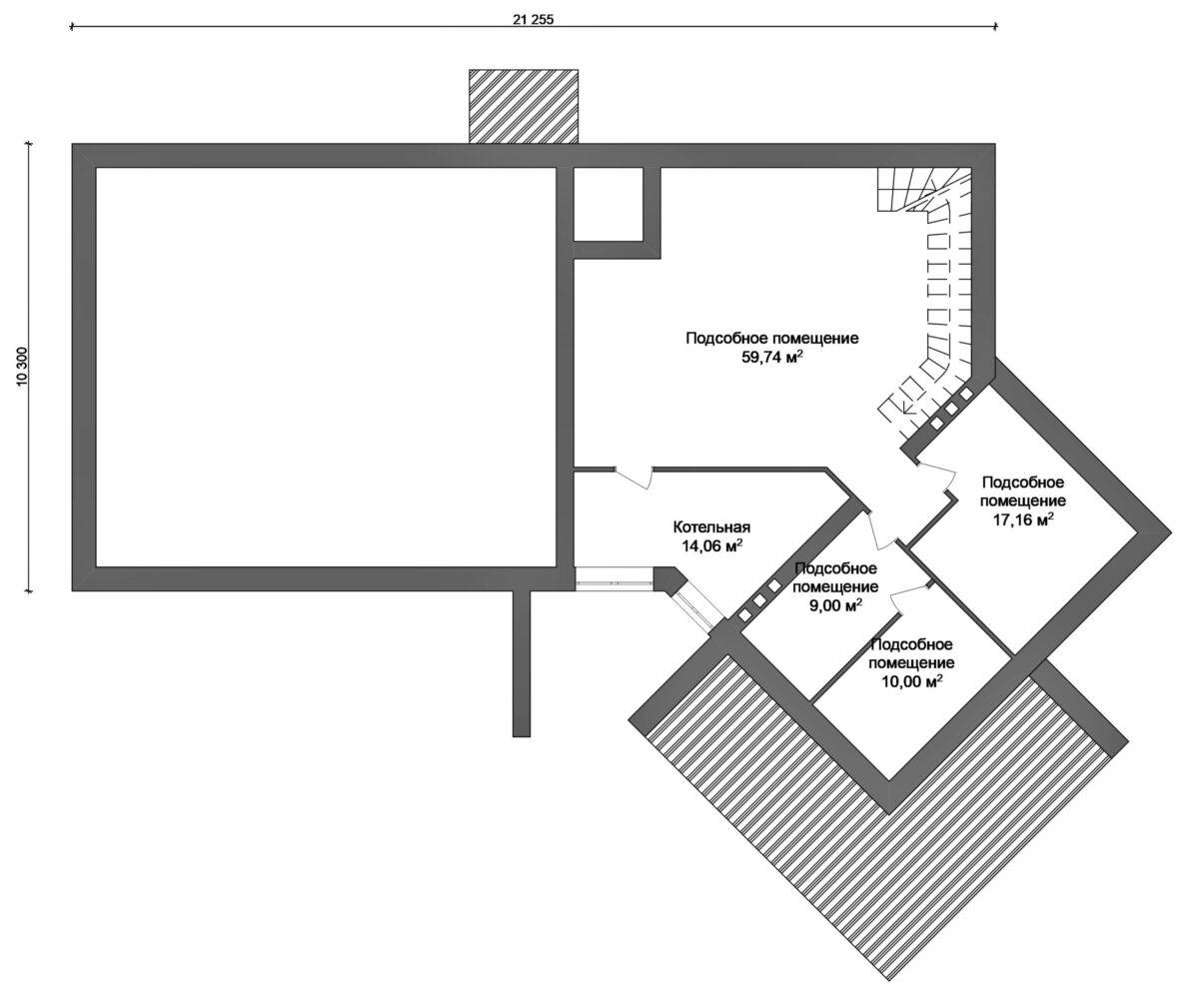 Автоном F-011 с видеообзором. Проект современного двухэтажного дома с цокольным этажом и плоской крышей