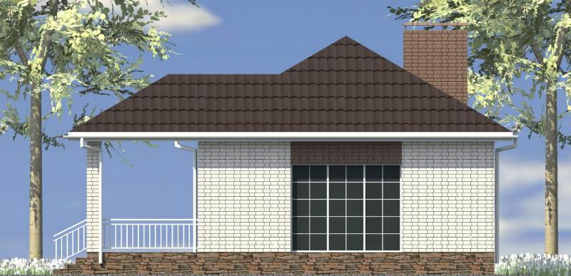 Аякс A-102. Проект одноэтажного дома с террасой