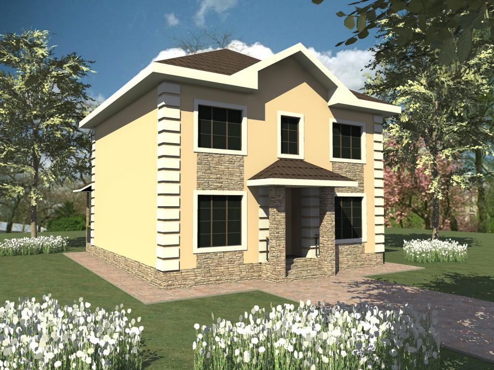Баратеон C-247. Проект классического двухэтажного дома на 4 спальни