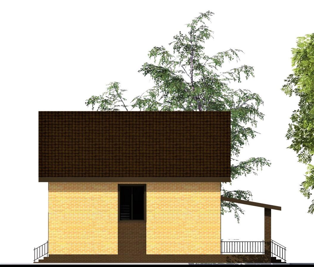 Бирмингем C-250. Проект одноэтажного дома с мансардой и террасой 10 х 13 м