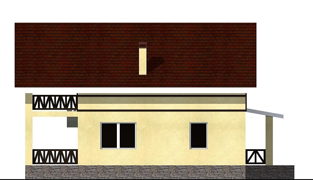 Бремен C-040. Проект коттеджа 13 на 15 м с мансардой, террасой, на 3 спальни