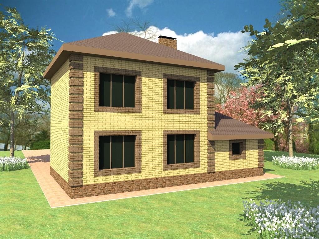 Бруно C-037. Проект двухэтажного дома на 4 спальни, с гаражом
