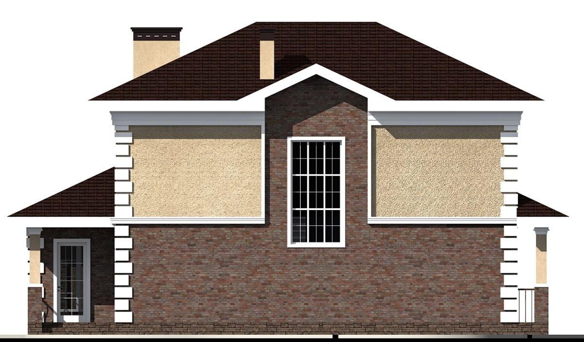 Диккенс B-040. Проект двухэтажного дома до 150 кв. м с тремя спальнями, верандой