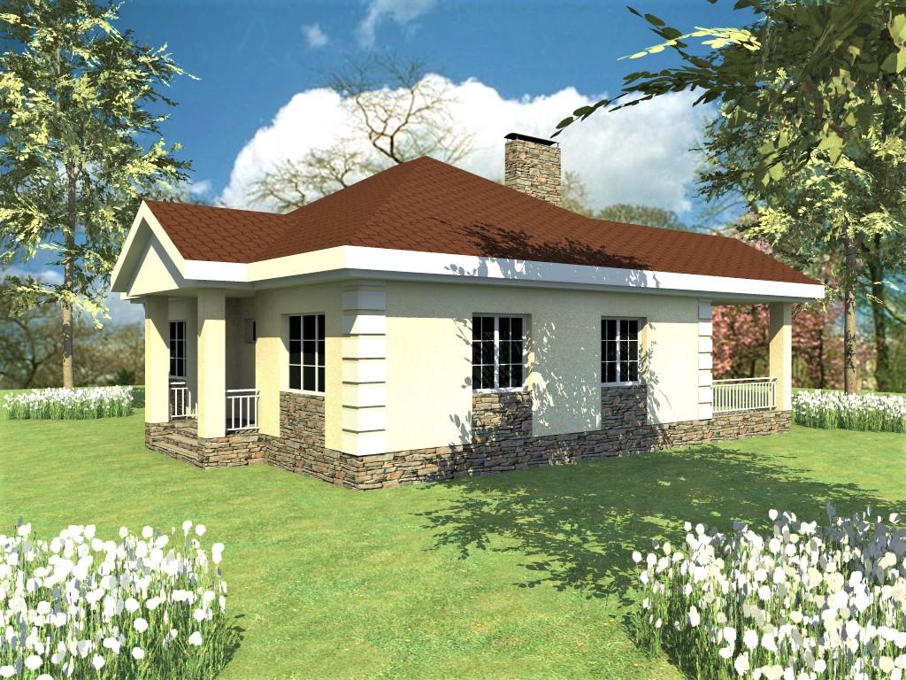 Дионис A-095. Проект одноэтажного дома до 100 м2, на 2 спальни, с террасой