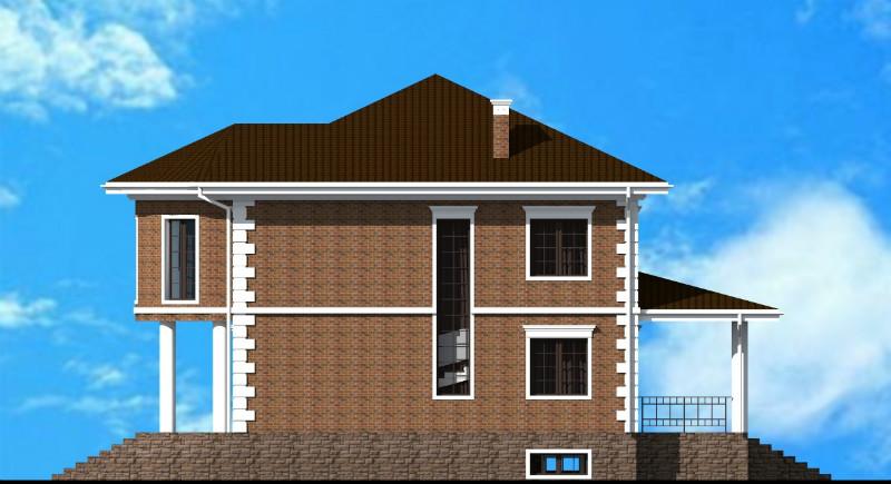 Дюнкерк D-027 с видеообзором. Проект двухэтажного дома на 3 спальни, с кабинетом, цокольным этажом, террасой