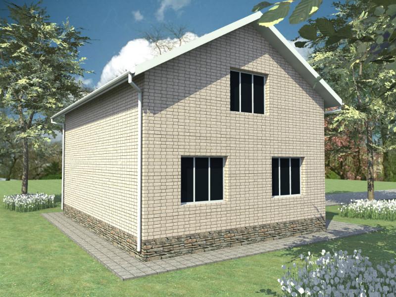 Элиот B-060. Проект мансардного дома с четырьмя спальнями