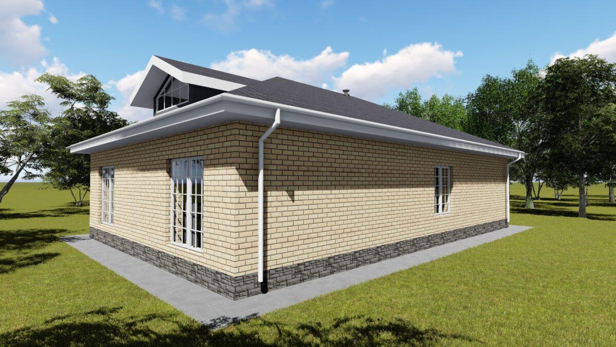Энтузиаст B-059. Проект одноэтажного дома до 150 м2, с тремя спальнями