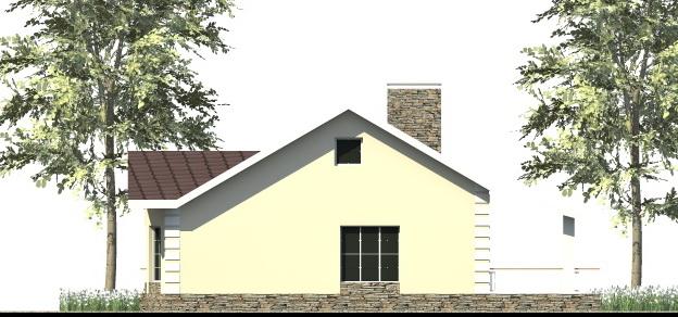 Эстет B-273. Проект одноэтажного коттеджа на 2 спальни, с террасой
