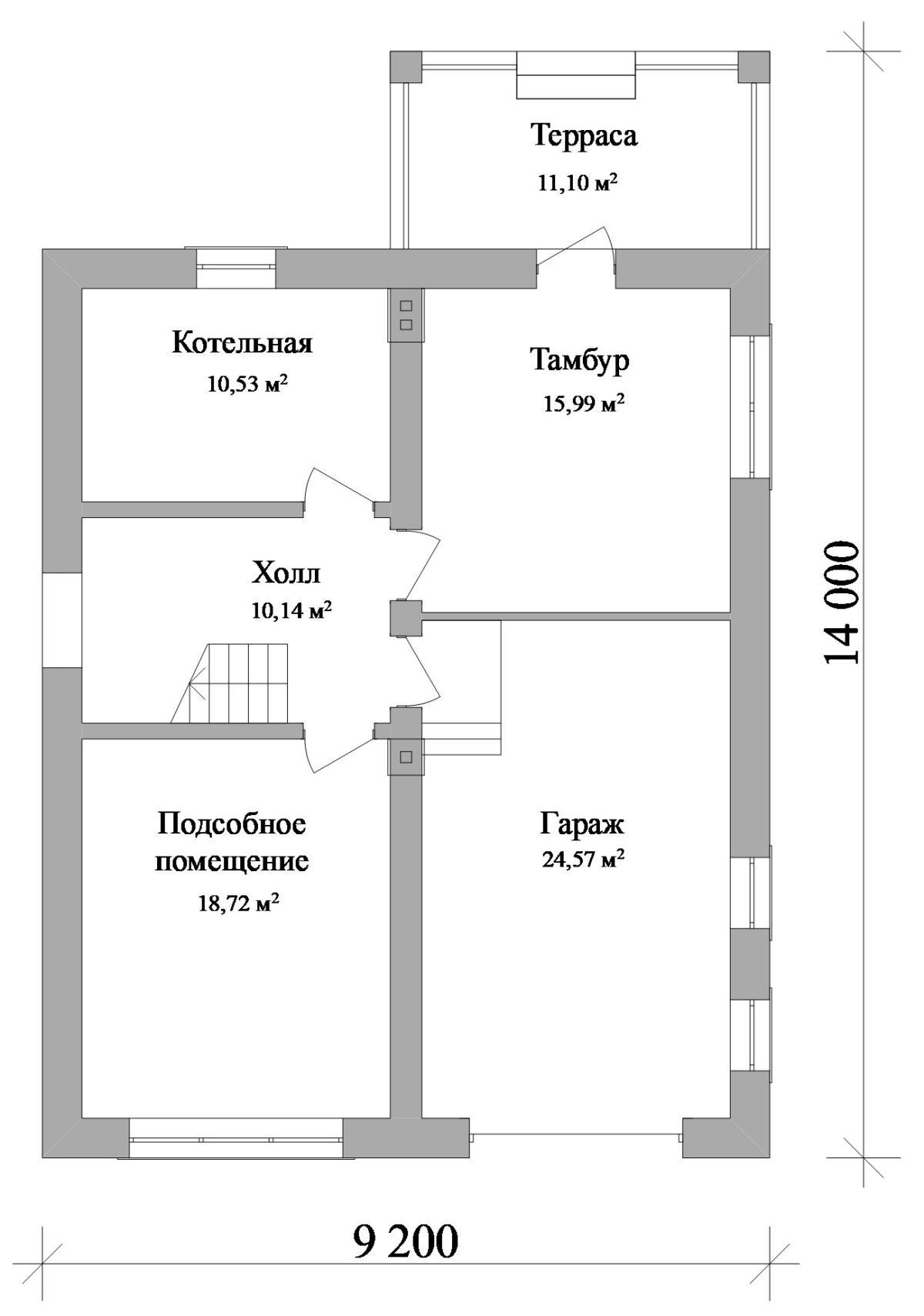 Файт D-127. Проект двухэтажного мансардного коттеджа на 3 спальни, с гаражом