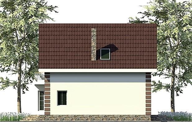 Фэмили Хаус C-254. Проект дома с мансардой на 5 спален, 9 х 11 м