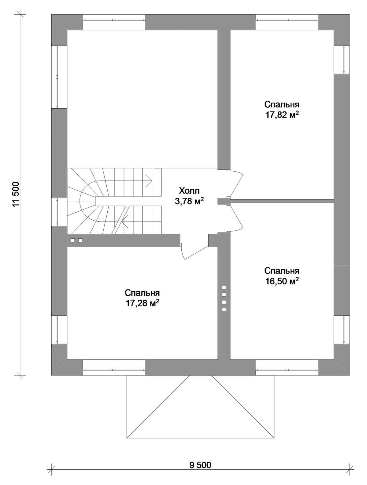 Фламинго B-046 с видеообзором. Проект двухэтажного дома с террасой на 3 спальни