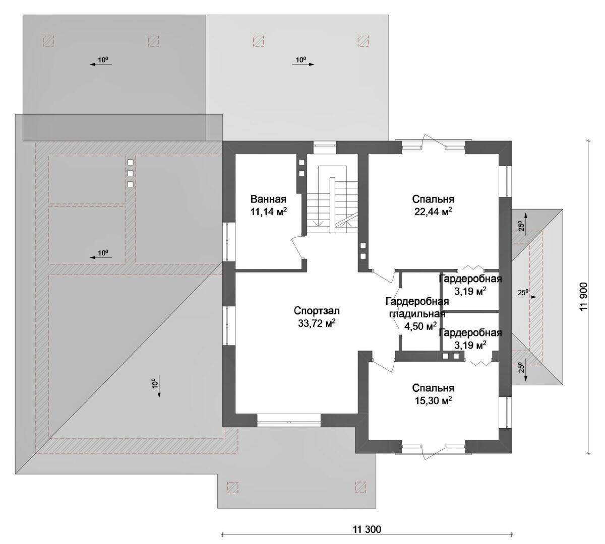 Грот F-010 с видеообзором. Проект большого коттеджа с улучшенной планировкой, на 3 спальни