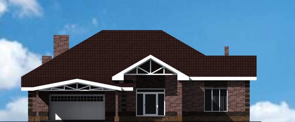 Кайзер F-012 с видеообзором. Проект большого одноэтажного дома на 2 спальни, с гаражом и террасой