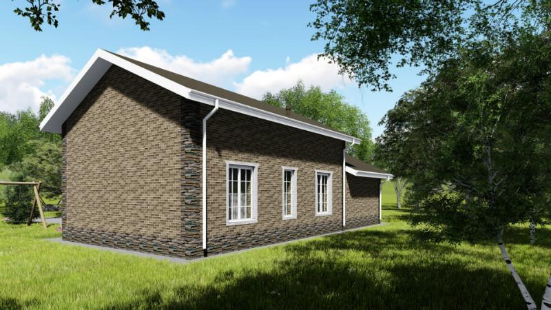 Камелот B-064. Одноэтажный дом с гаражом и тремя спальнями