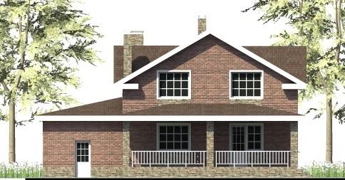 Капиталист D-006. Проект мансардного коттеджа, на 4 спальни, с пристроенным гаражом и террасой