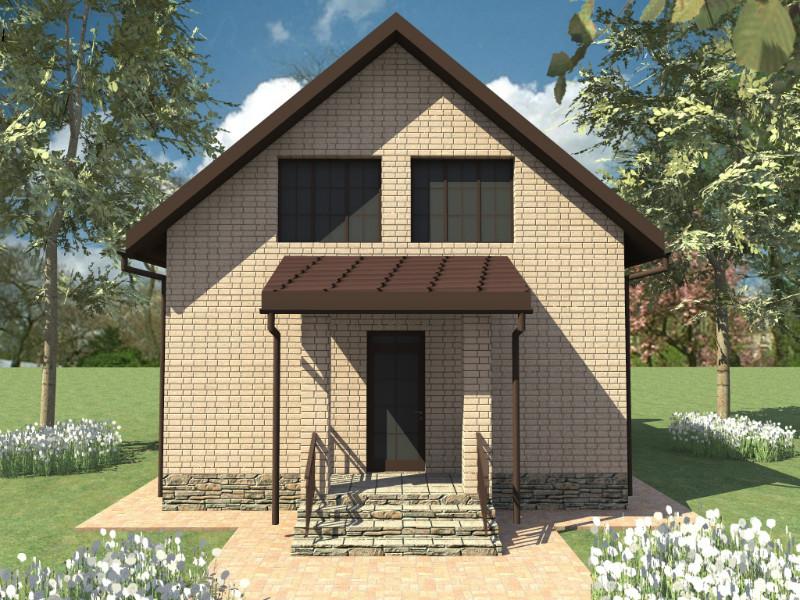 Карат C-043. Проект простого дома для узкого участка