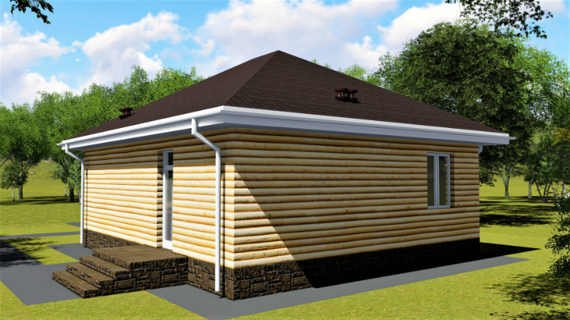 Класт A-097. Проект одноэтажного дома до 100 м2, на 2 спальни
