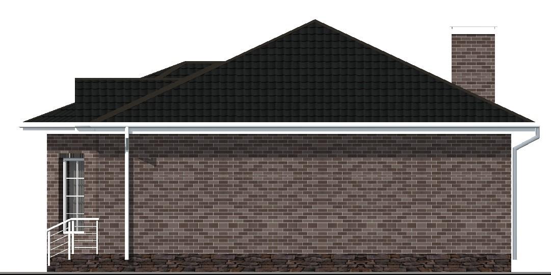 Консорт B-021 с видеообзором. Проект красивого одноэтажного дома с двумя спальнями и террасой