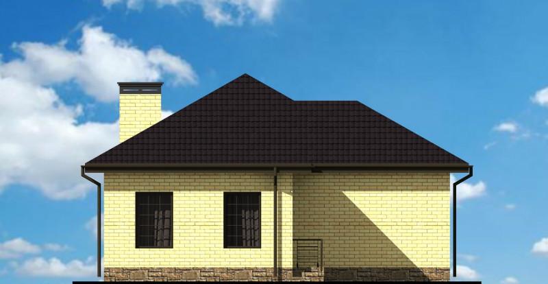 КРОП A-098. Проект простого одноэтажного дома на 3 спальни