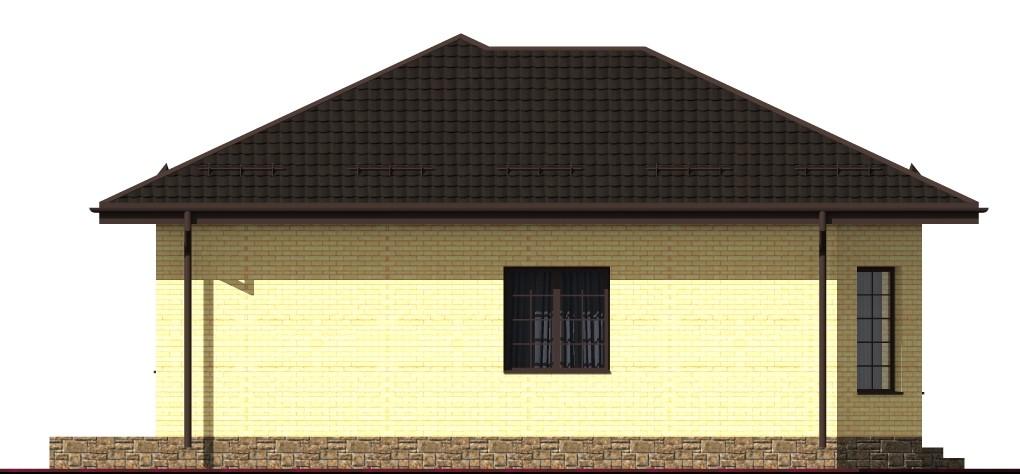 Латте A-009. Проект однокомнатного дома с кабинетом