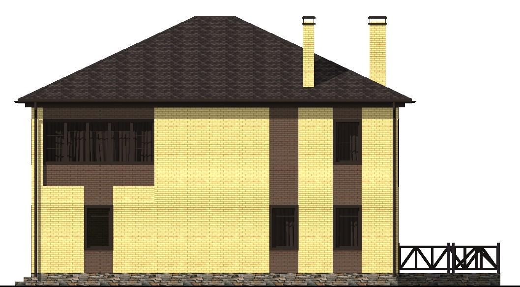 Мальта D-010. Проект двухэтажного коттеджа на 4 спальни с гаражом, сауной, террасой