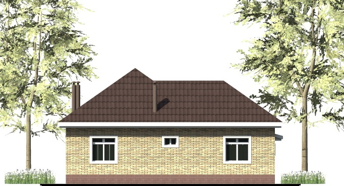 Мангуст B-271. Проект одноэтажного дома на 2 спальни, с гаражом, эркером