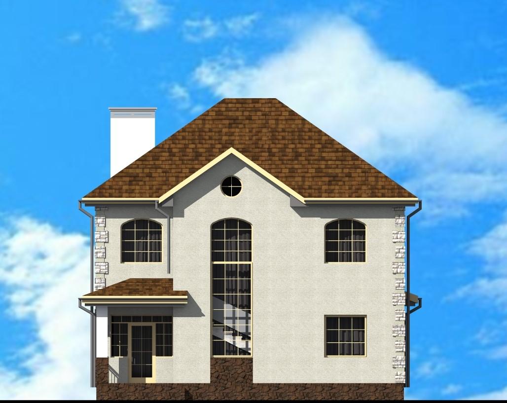 МОНАРХ C-034. Проект двухэтажного дома на 4 спальни, с террасой