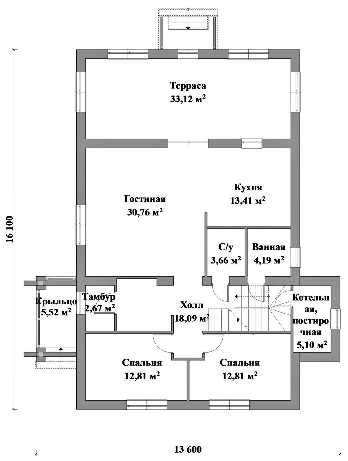мМОРПЕХ D-029. Проект двухэтажного дома на 6 спален