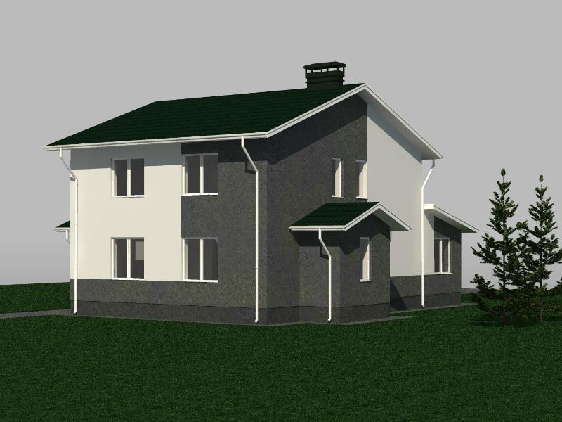 МОРПЕХ D-029. Проект двухэтажного дома на 6 спален