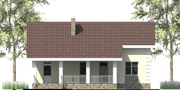Норд B-274. Проект небольшого коттеджа до 150 кв. м на 2 спальни, с большой террасой