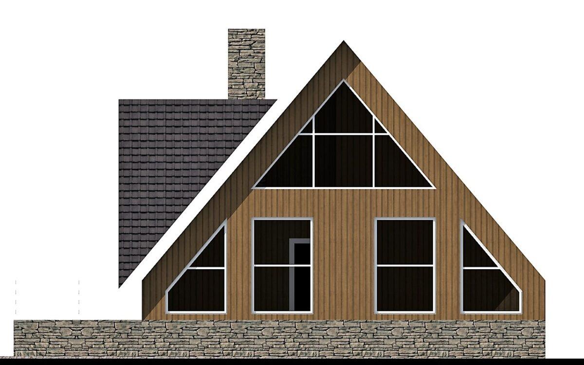 Нортлэнд B-039 с видеообзором. Проект мансардного дома-шалаша с двумя спальнями и подземным гаражом