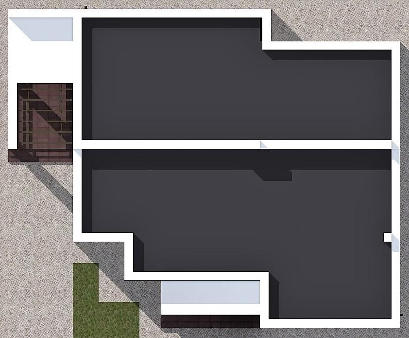 Перфоманс C-041. Проект современного дома в стиле минимализм на 2 спальни