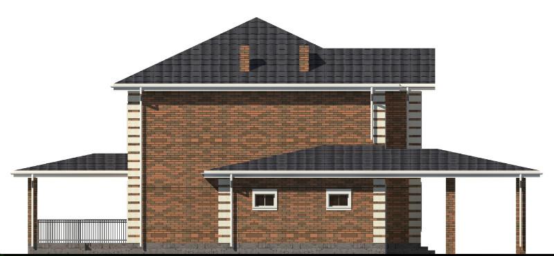 Раф D-134 с видеообзором. Проект двухэтажного дома с гаражом и навесом