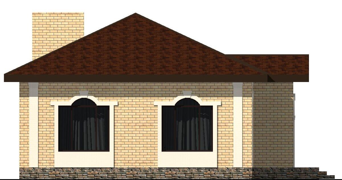 Самарканд A-027 с видеообзором. Проект одноэтажного дома с простой планировкой