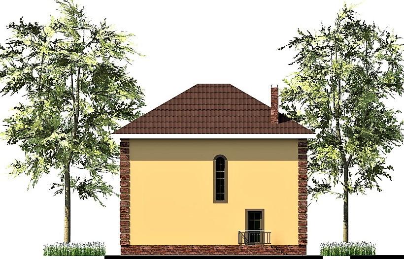 Санхаус C-249. Проект двухэтажного коттеджа на 4 спальни, с террасой