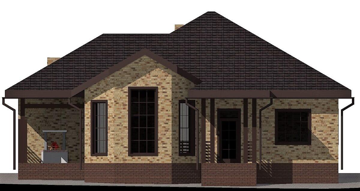 Саванна B-285. Проект небольшого одноэтажного дома на 3 спальни, с подвалом
