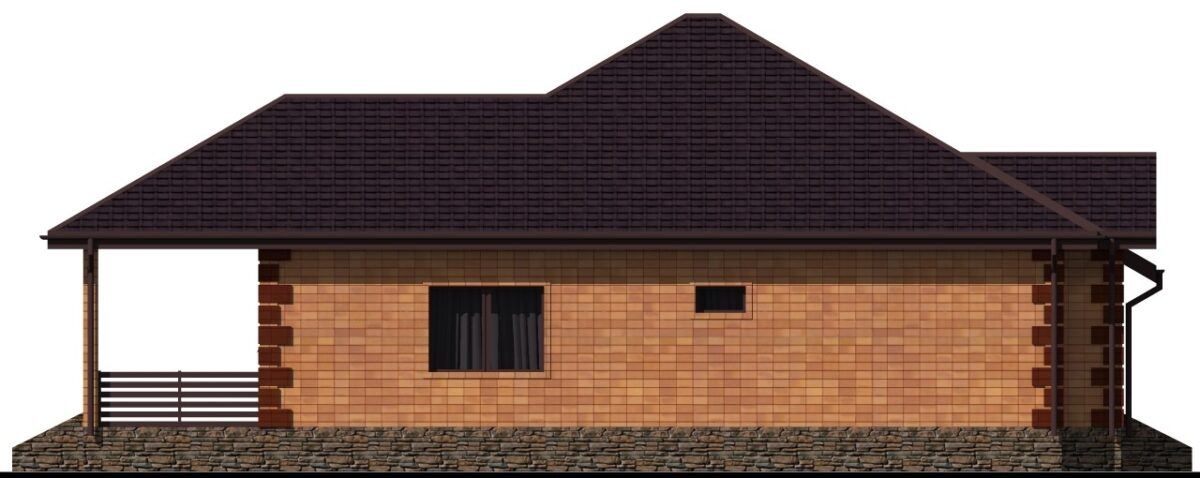 Сераскир D-022 с видеообзором. Проект одноэтажного дома на 3 спальни, с цокольным этажом, террасой