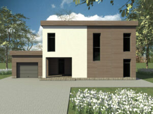 Шервуд C-044. Проект двухэтажного дома с гаражом
