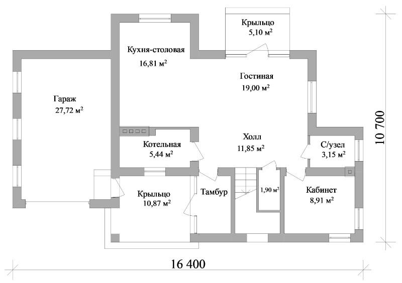 Шервуд C-044. Проект двухэтажного дома с гаражомШервуд C-044. Проект двухэтажного дома с гаражом