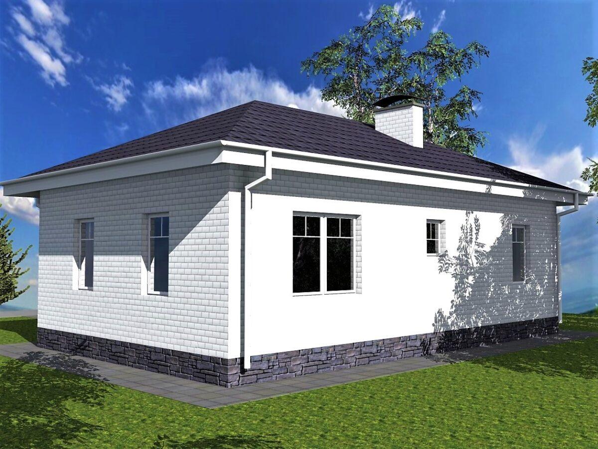 Смарт A-090. Проект маленького жилого дома на две спальни