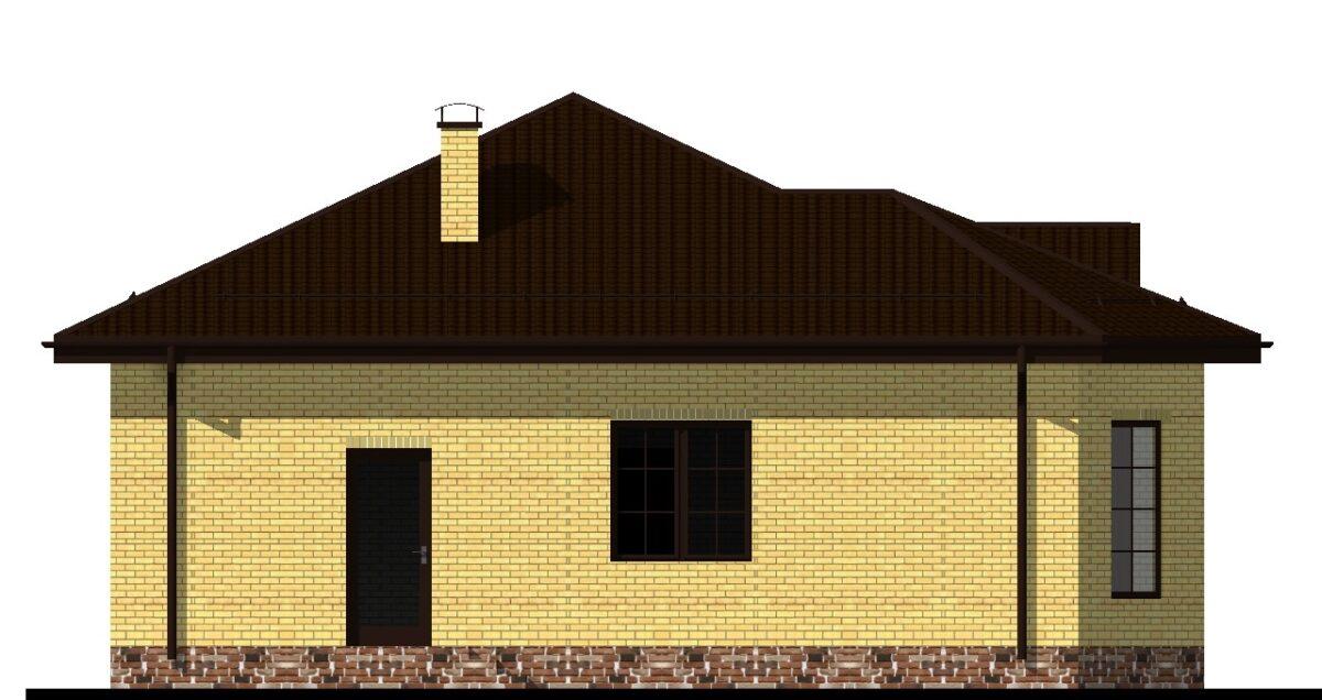 Спенсер A-006 с видеообзором. Проект небольшого одноэтажного дома с двумя спальнями