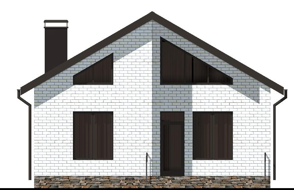 Спикер A-010. Проект одноэтажного дома 9 х 13 м с террасой, на 2 спальни