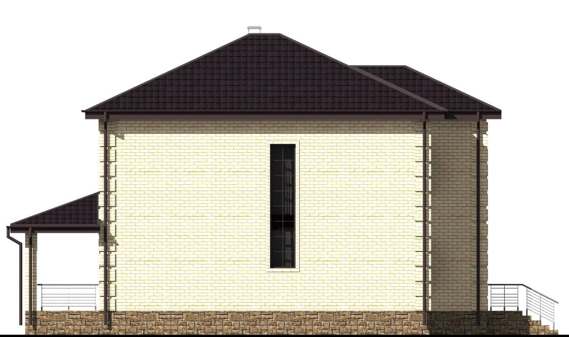 Столыпин D-013. Проект двухэтажного дома на 4 спальни, с террасой и сауной